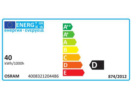 Halolux halogeenlamp koelkast E14 40W wit