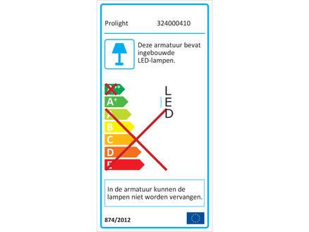 Prolight LED straler 20W 1600lm oplaadbaar waterbestendig