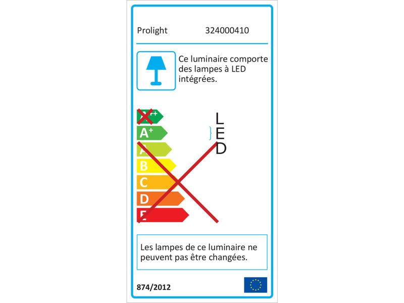 Prolight Projecteur LED 20W 1600lm rechargeable étanche