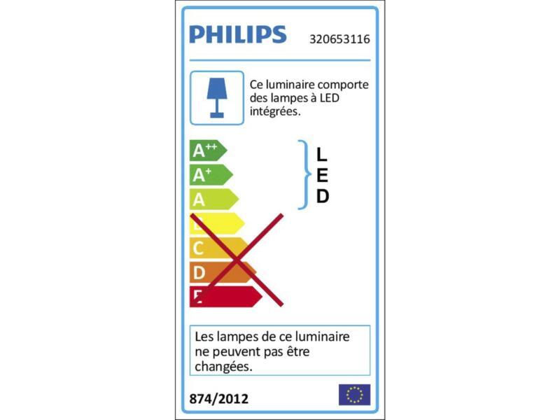 Philips myBathroom Seru plafonnier LED 3x4,5W dimmable blanc
