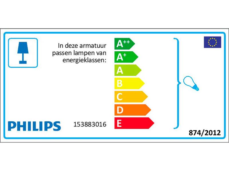 Philips myGarden Creek wandlamp 60W E27 met sensor zwart