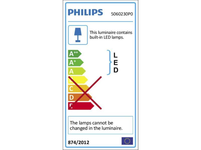 Philips myLiving Bukko LED barre de spots 2x4,3W noir