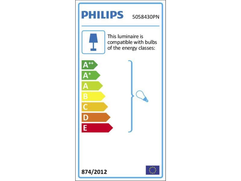 Philips myLiving Pongee balkspot GU10 max. 4x10W dimbaar zwart