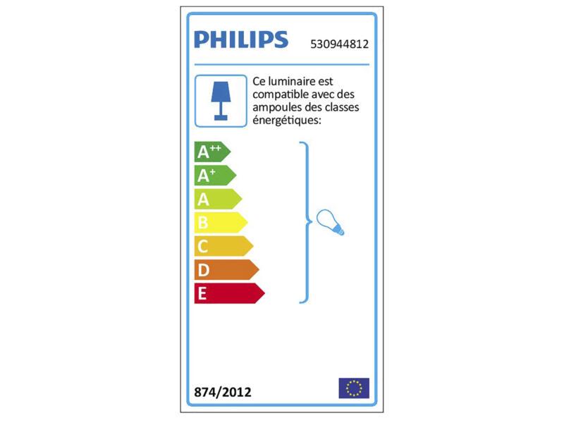 Philips myLiving Runner spot de plafond GU10 max. 4x50W dimmable aluminium