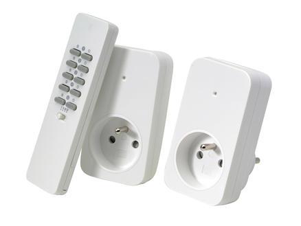 Trust 2 draadloze stopcontacten met afstandsbediening wit