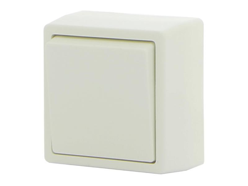 2-polige schakelaar 10A wit opbouw