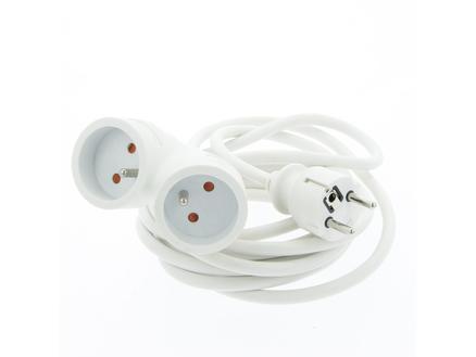 Profile 2V rallonge 3m 3G 1,5mm² blanc