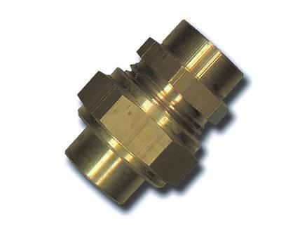 Saninstal 3-delige koppeling 12mm messing
