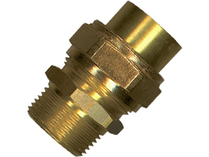 Saninstal 3-delige koppeling 15mm messing