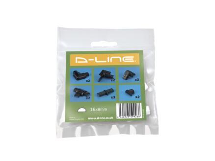 D-Line Accessoires goulottes multipack 16x8 mm noir