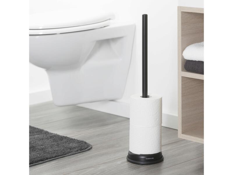 Sealskin Acero porte-papier toilette de réserve sur pied noir