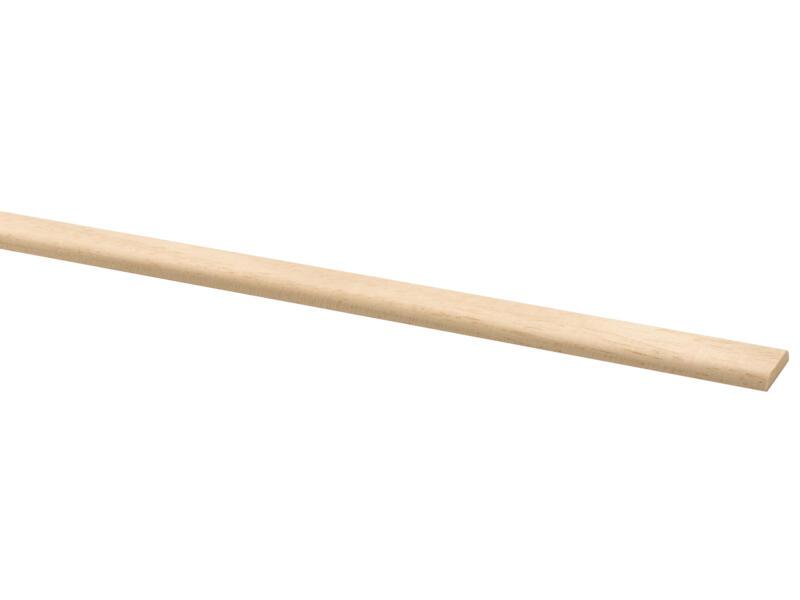 Afdeklijst 19x4 mm 270cm hardhout