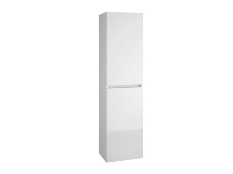 Allibert Alma meuble colonne 40cm 2 portes réversibles asphalte brillant