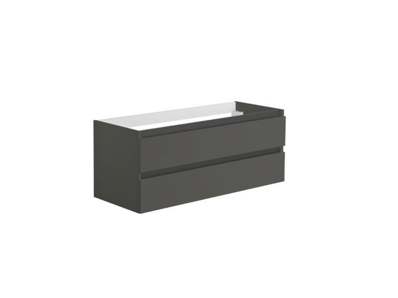 Allibert Alma meuble pour lavabo double 120cm 2 tiroirs asphalte brillant