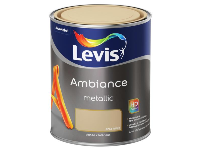 Levis Ambiance Metallic peinture murale 1l or