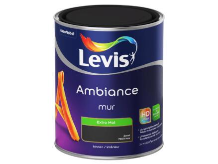 Levis Ambiance muurverf extra mat 1l zwart