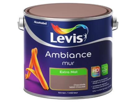 Levis Ambiance muurverf extra mat 2,5l chocolade