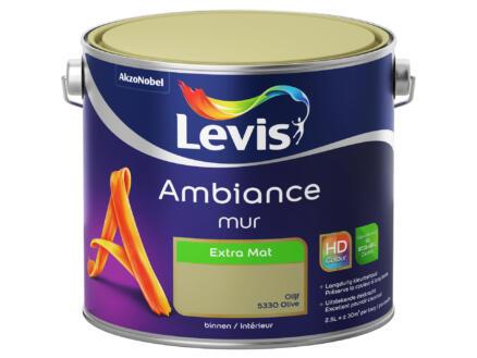 Levis Ambiance muurverf extra mat 2,5l olijf
