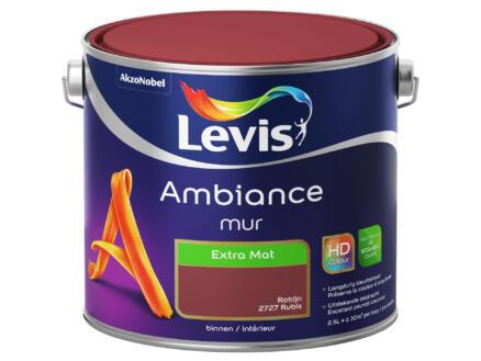 Levis Ambiance muurverf extra mat 2,5l robijn
