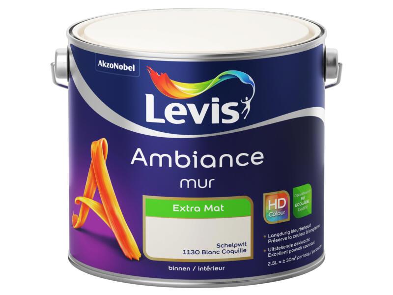 Levis Ambiance muurverf extra mat 2,5l schelpwit