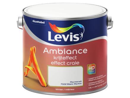 Levis Ambiance muurverf krijteffect 2,5l marmerwit