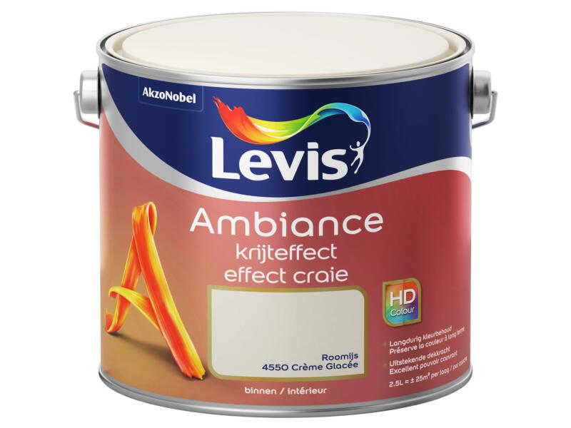 Levis Ambiance muurverf krijteffect 2,5l roomijs