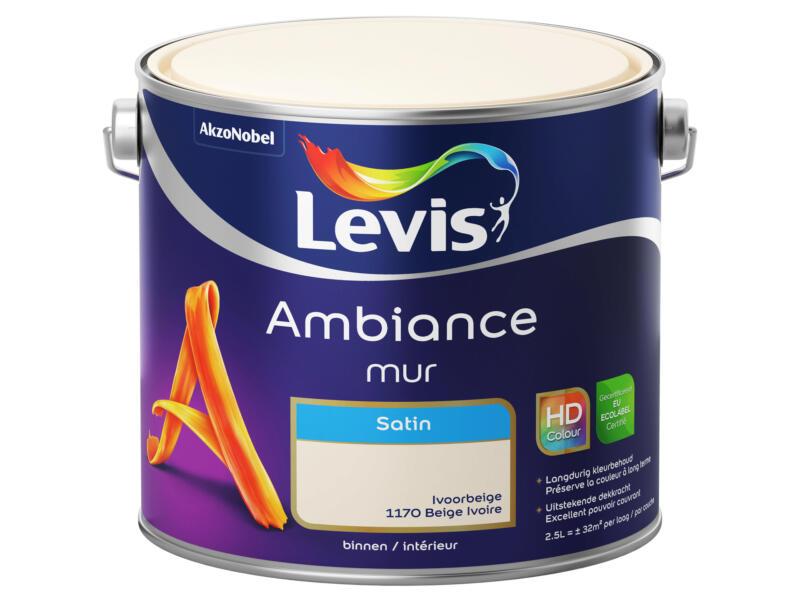 Levis Ambiance muurverf zijdeglans 2,5l ivoorbeige