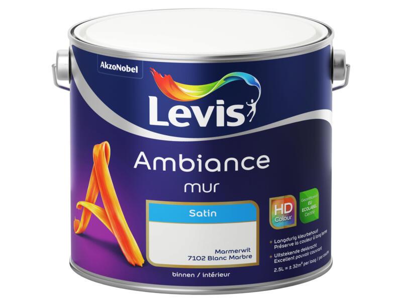Levis Ambiance muurverf zijdeglans 2,5l marmerwit