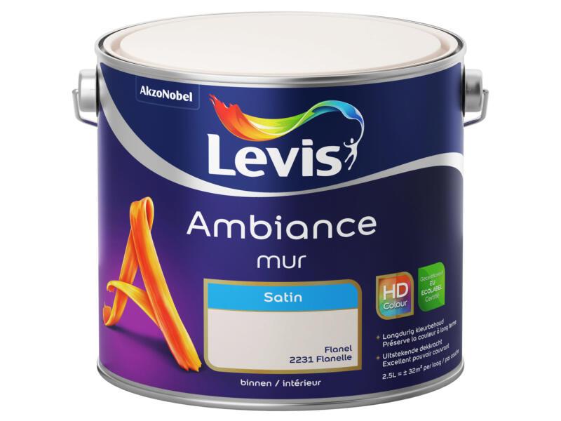 Levis Ambiance peinture murale satin 2,5l flanelle