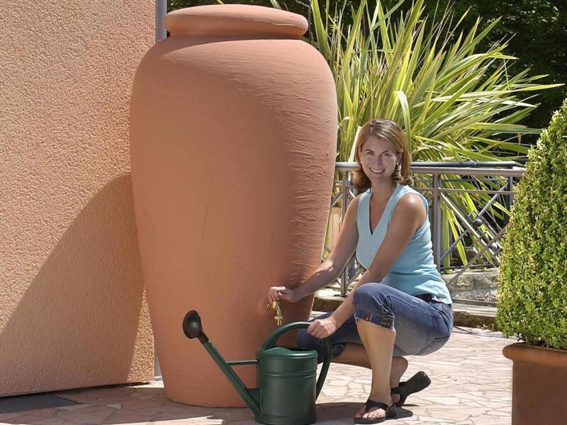 Garantia Amphore tonneau de pluie 300l terracotta