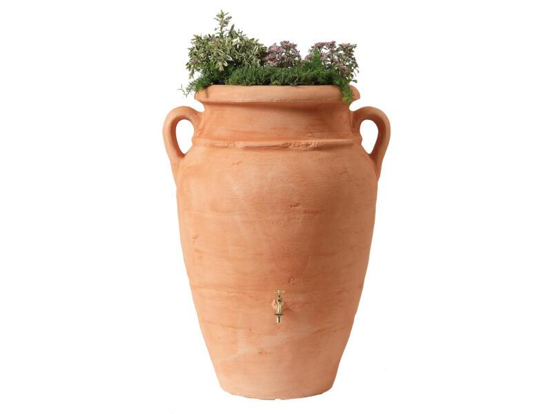 Garantia Amphore tonneau de pluie antique 250l terracotta