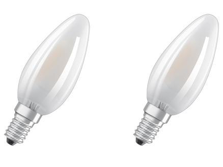 Osram Ampoule LED flamme E14 4W 2 pièces