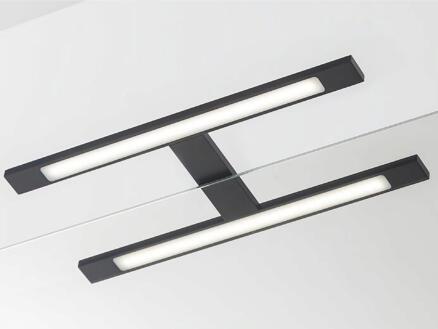 eTiger Ancis LED spiegellamp 40cm zwart