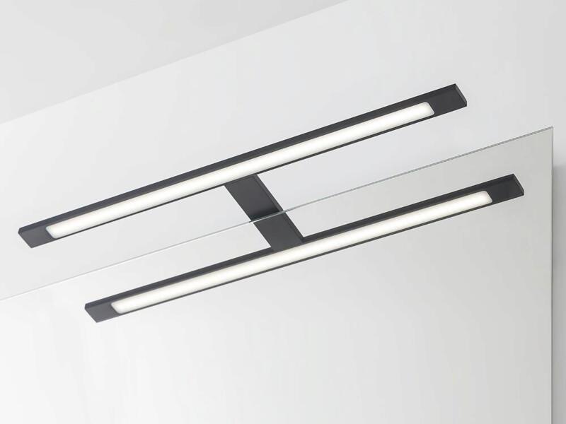 eTiger Ancis LED spiegellamp 60cm zwart