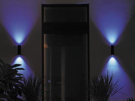 Philips Hue Appear White and Color Ambiance applique murale extérieure LED 8W dimmable noir