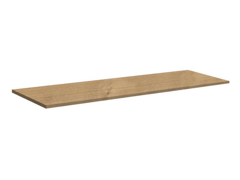 Allibert Aston plan de toilette 140cm chêne arlington