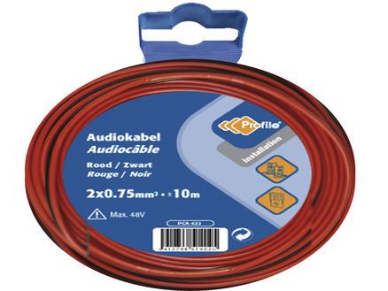 Profile Audiokabel 2G 0,75mm² 10m rood en zwart