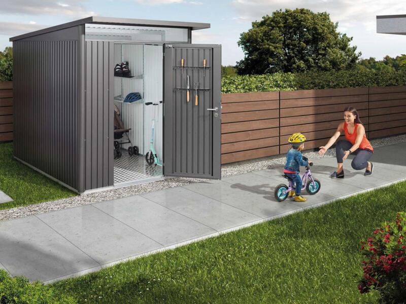 Biohort AvantGarde A3 tuinhuis 180x217x300 cm kwartsgrijs metaal