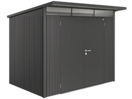 Biohort AvantGarde A5 abri de jardin 260x218x220 cm métal porte double gris foncé