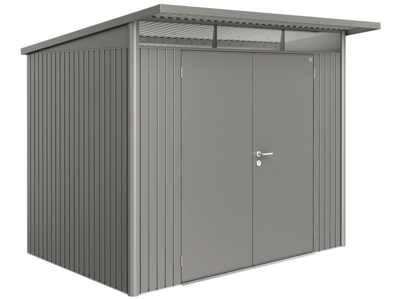 Biohort AvantGarde A5 tuinhuis 260x218x220 cm kwartsgrijs metaal met dubbele deur