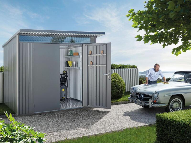Biohort AvantGarde A5 tuinhuis 260x218x220 cm kwartsgrijs metaal