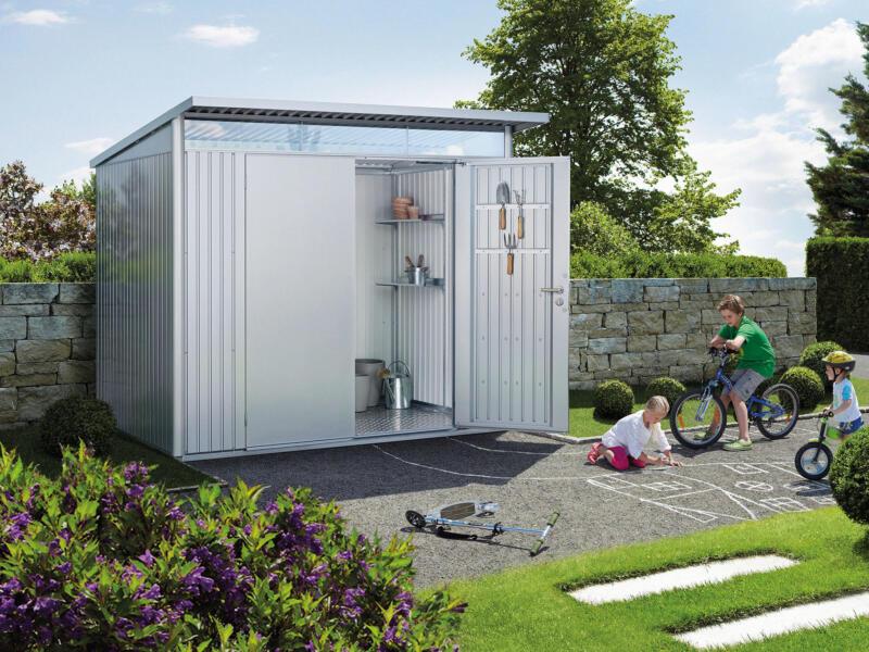 Biohort AvantGarde A5 tuinhuis 260x218x220 cm zilver metaal