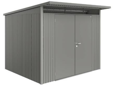 Biohort AvantGarde A6 tuinhuis 260x218x260 cm kwartsgrijs metaal met dubbele deur