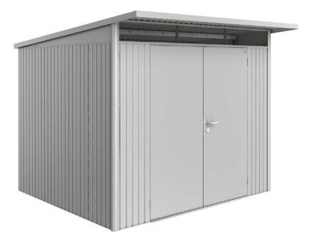 Biohort AvantGarde A6 tuinhuis 260x218x260 cm zilver metaal met dubbele deur