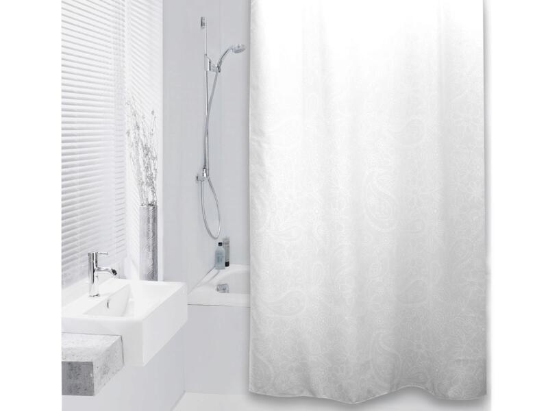 Differnz Aves rideau de douche 180x200 cm blanc