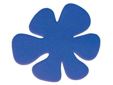 Differnz Baddecoratie 9x10,7 cm mini bloem blauw