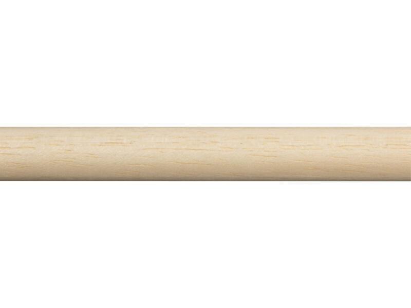 Baguette ronde 14mm 270cm bois dur blanc