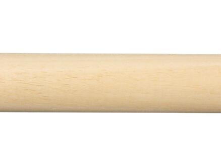 Baguette ronde 28mm 270cm bois dur blanc