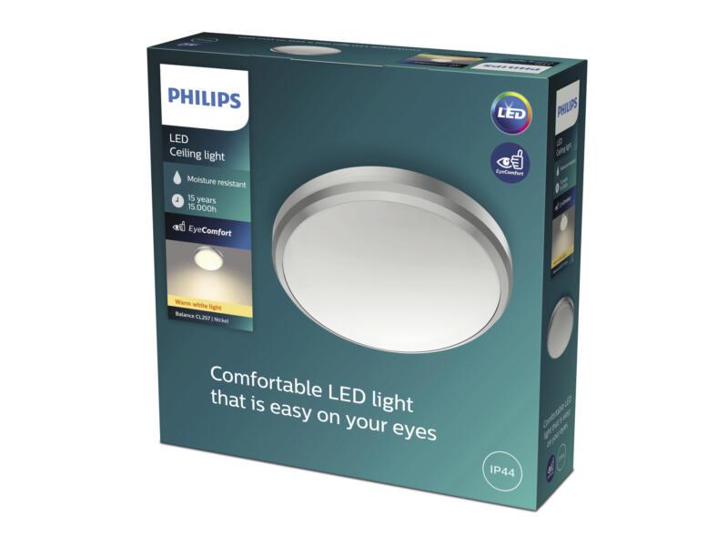 Philips Balance LED wand- en plafondlamp 6W nikkel grijs