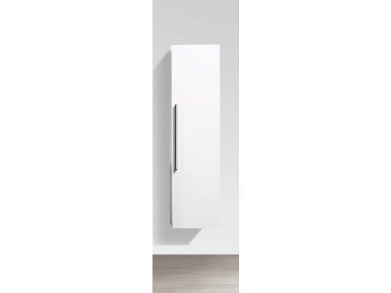 Barcelona meuble colonne 40cm 1 porte réversible blanc brillant